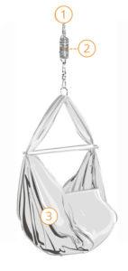 baby swing hammock construction